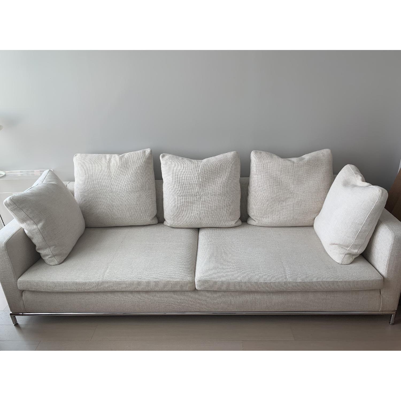 Natural Fabric Sofa - image-1