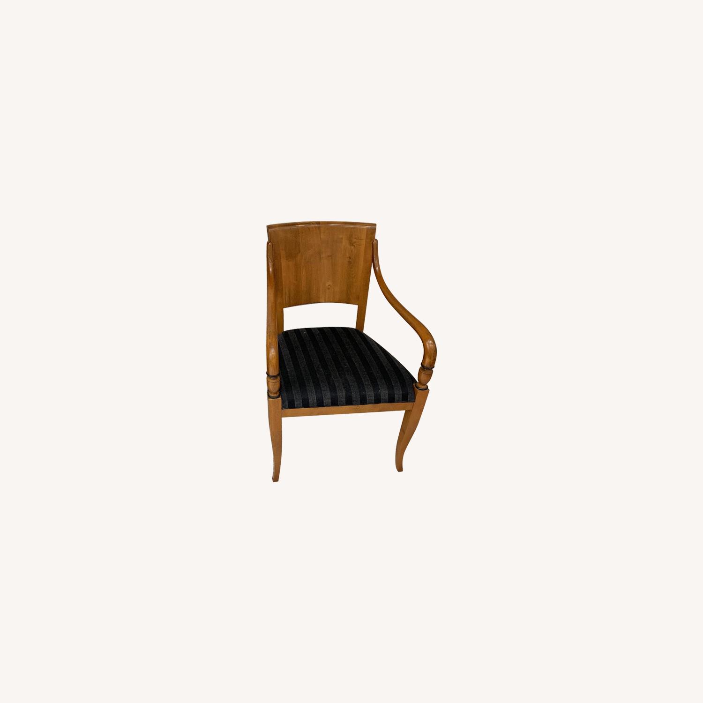 Italian Birds Eye Maple Dining Chairs