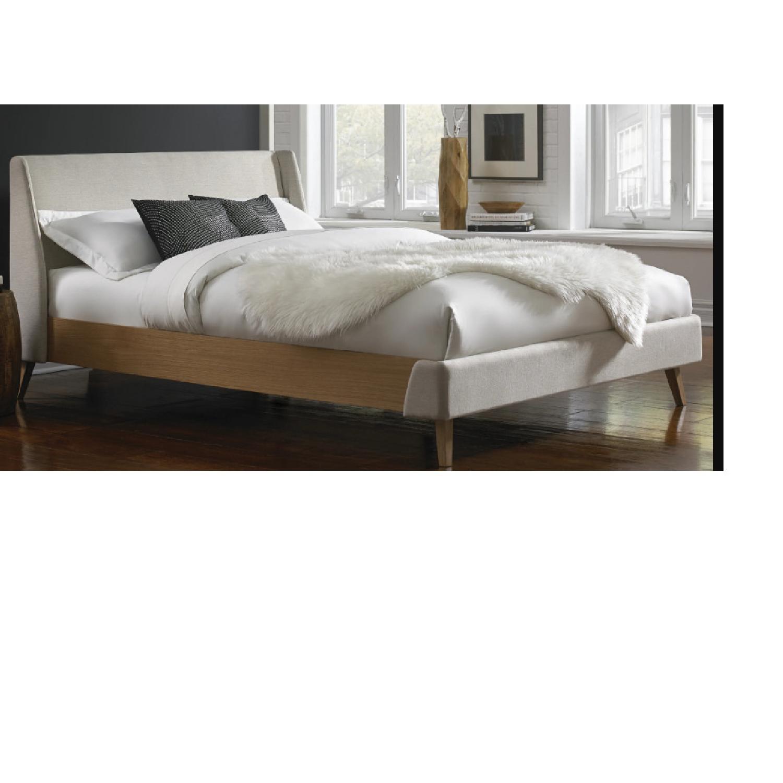 Palmer Upholstered Queen Platform Bed w/ Headboard - image-1