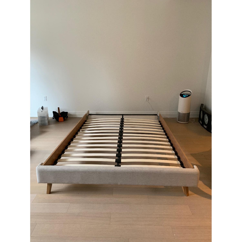 Palmer Upholstered Queen Platform Bed w/ Headboard - image-2