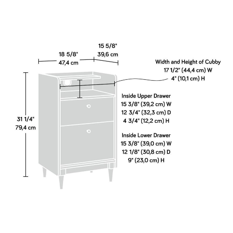 Sauder 2 Drawer Stand w/ File - image-2