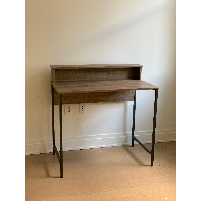 Homestar Computer Desk w/ Hutch in Reclaimed Wood - image-1