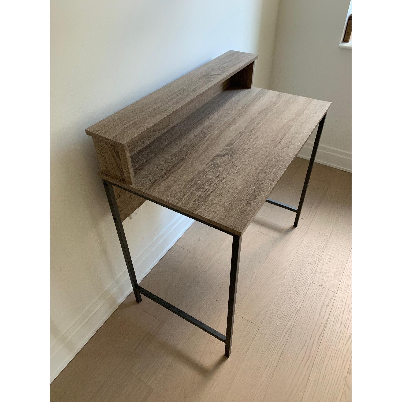 Homestar Computer Desk w/ Hutch in Reclaimed Wood - image-2