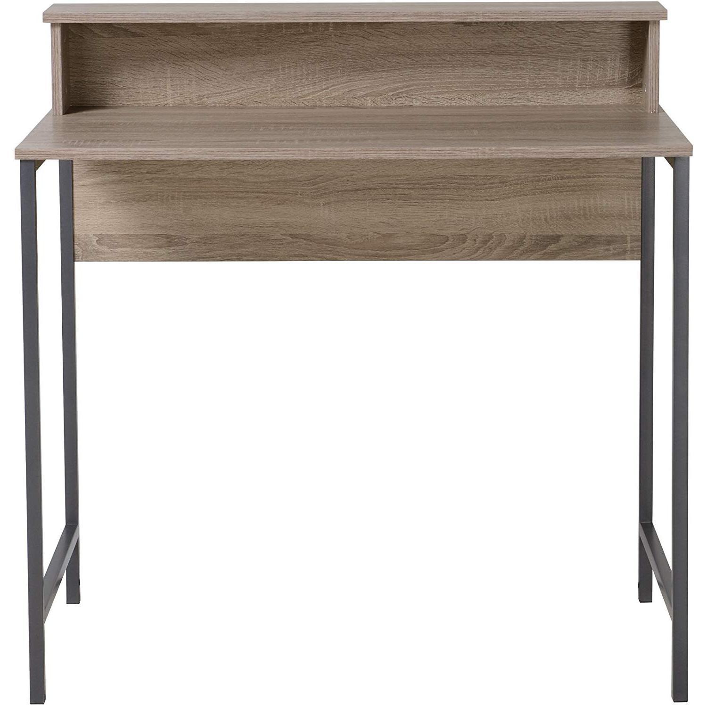 Homestar Computer Desk w/ Hutch in Reclaimed Wood - image-0