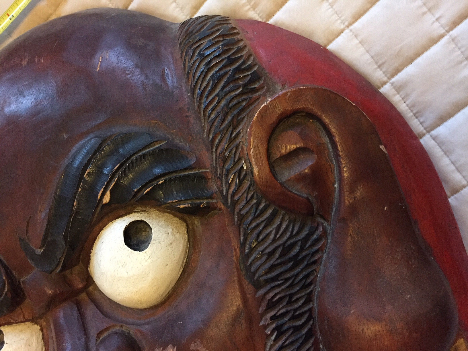 Vintage Wooden Japanese Tengu Mask