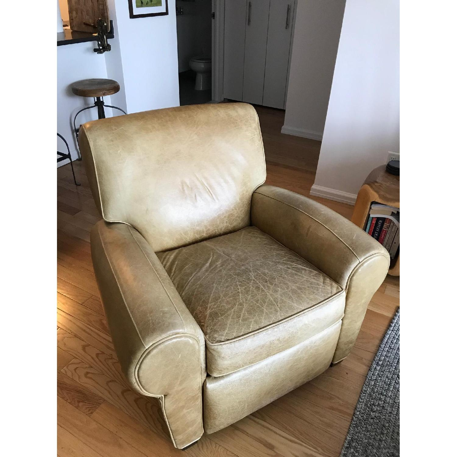 Pottery Barn Manhattan Leather Recliner - image-2