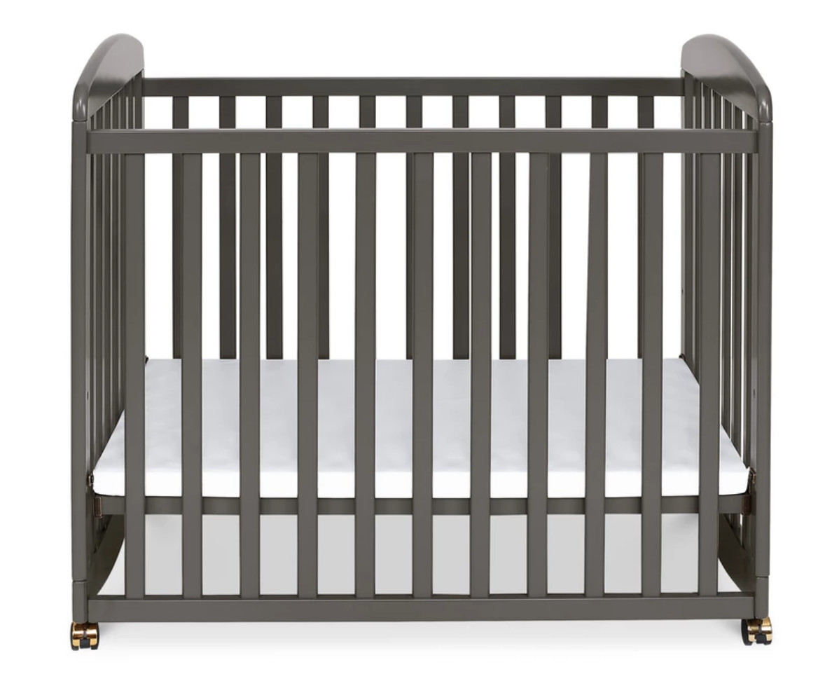 DaVinci Grey Mini Crib w/ Organic Pad