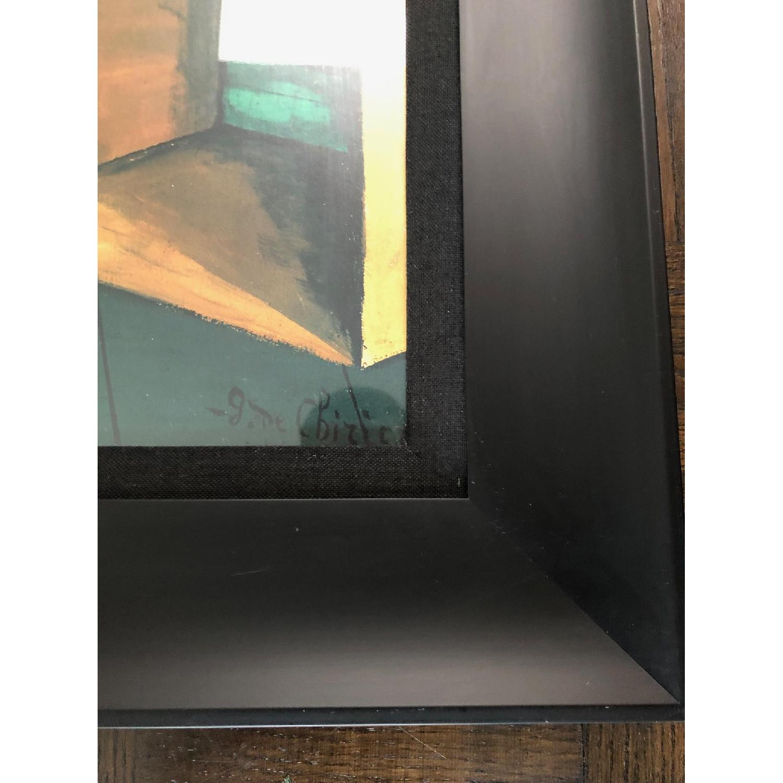 DeChirico Framed Print Reproduction w/ Black Wood Frame - image-3