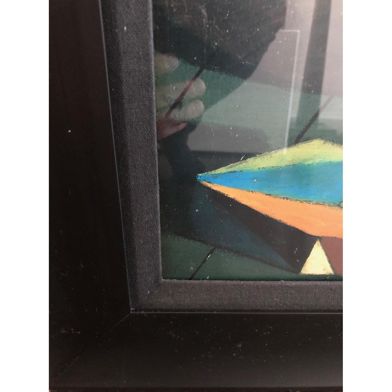 DeChirico Framed Print Reproduction w/ Black Wood Frame - image-4