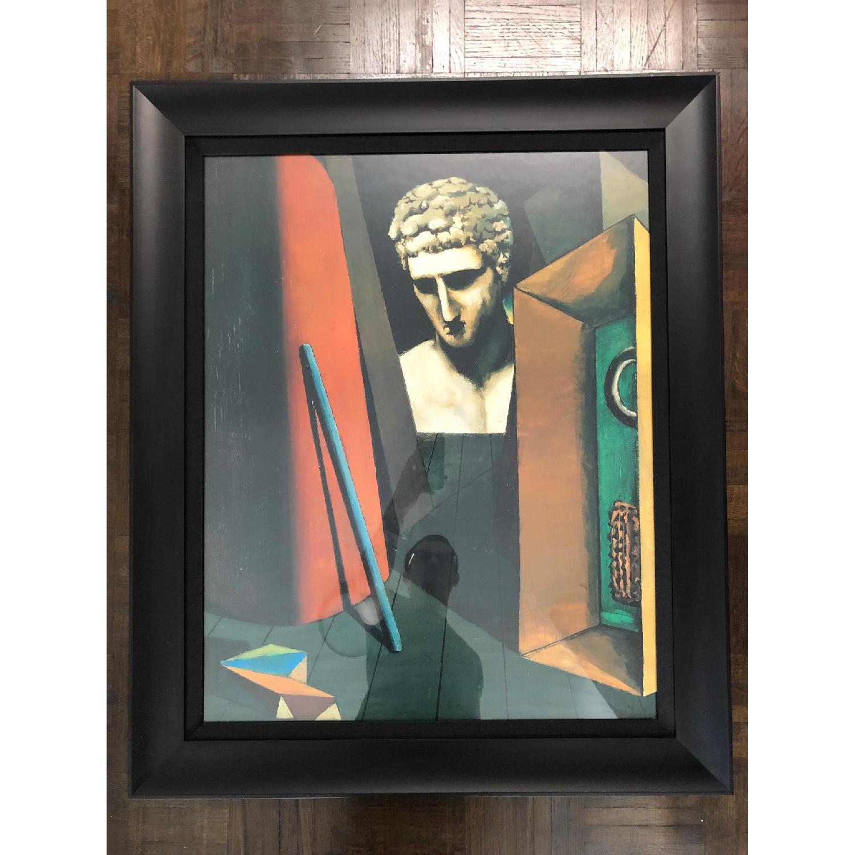 DeChirico Framed Print Reproduction w/ Black Wood Frame - image-5