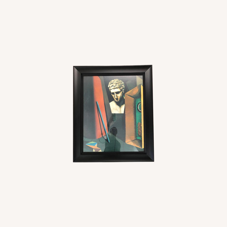 DeChirico Framed Print Reproduction w/ Black Wood Frame - image-0