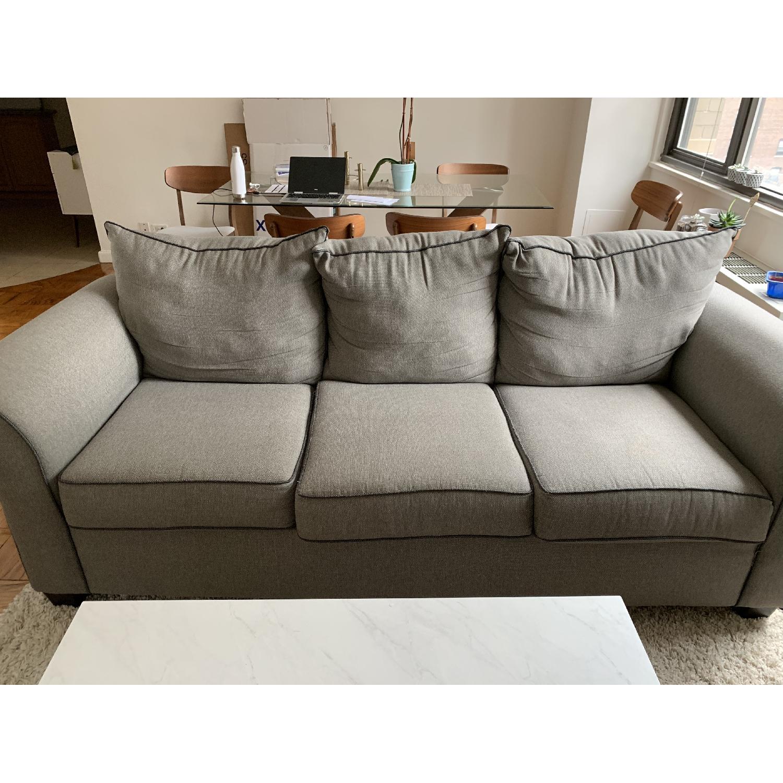 Bob's Ashton Grey Fabric Sofa - image-1