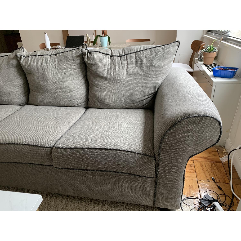 Bob's Ashton Grey Fabric Sofa - image-5