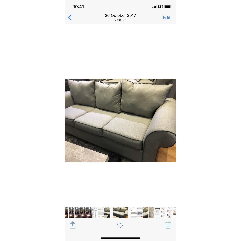 Bob's Ashton Grey Fabric Sofa - image-3