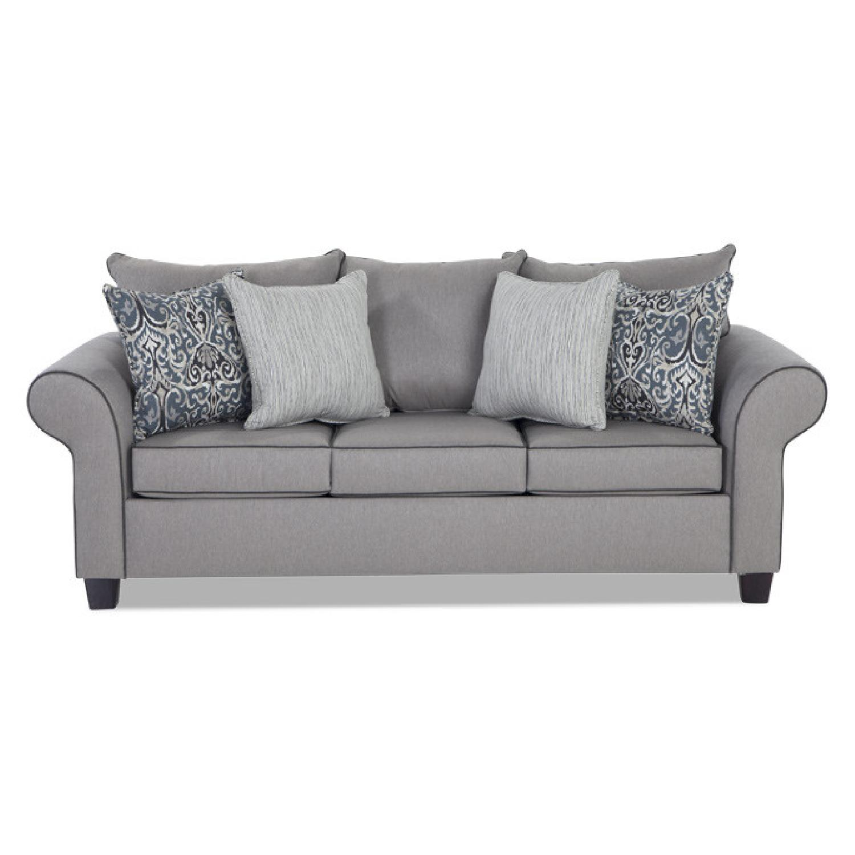 Bob's Ashton Grey Fabric Sofa - image-0