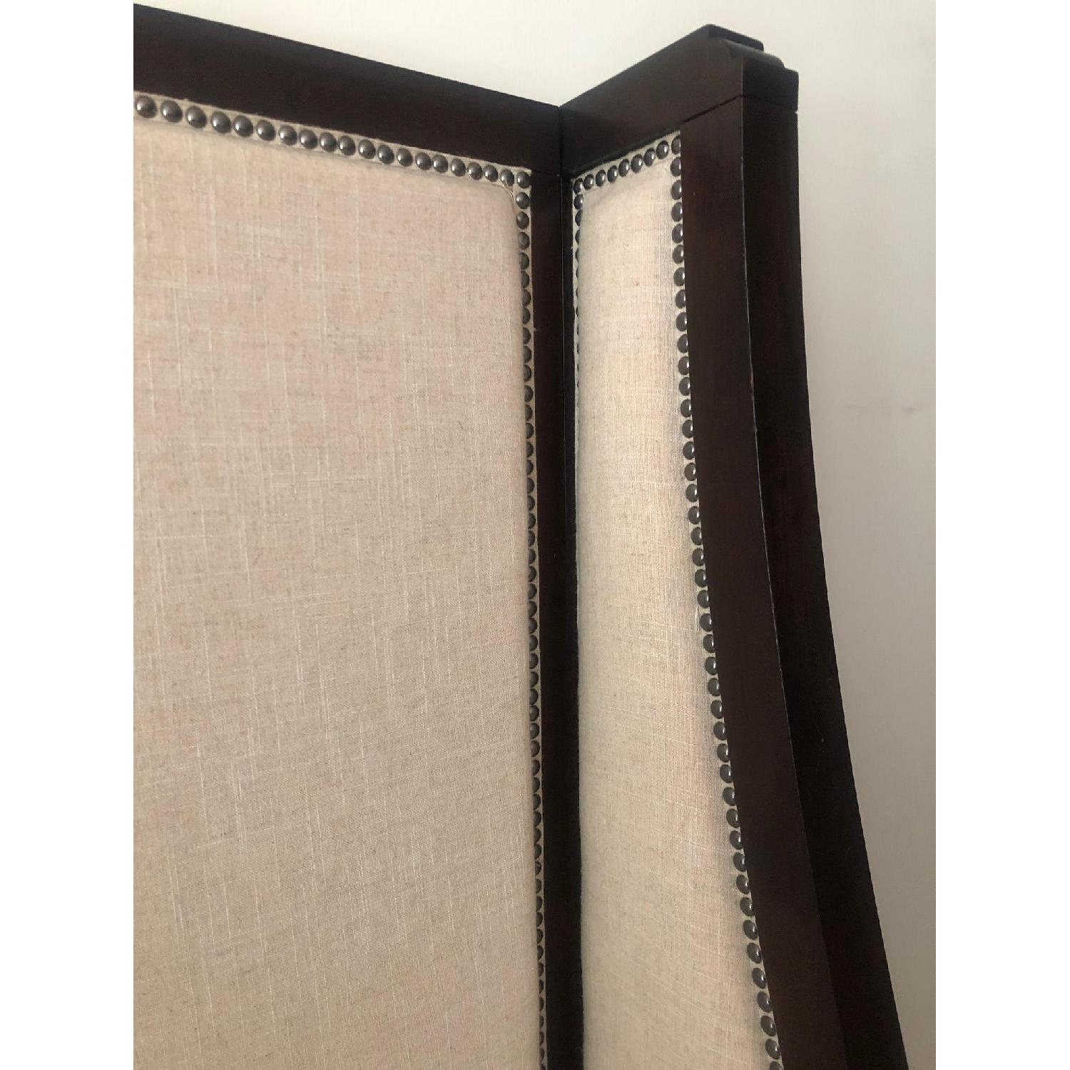 Raymour & Flanigan Wingback Linen Nailhead Bed - image-3