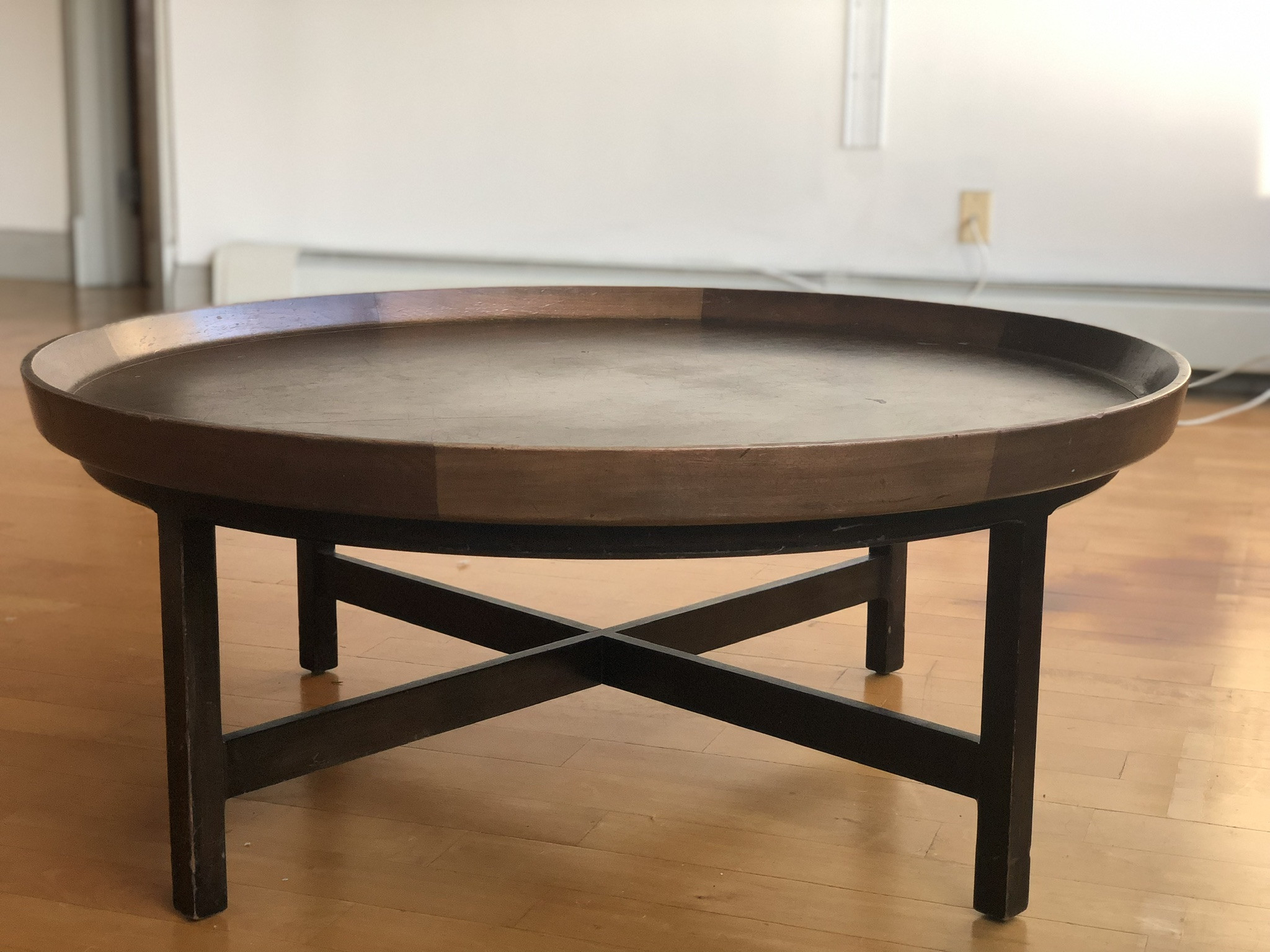 Antique Solid Wood Round Coffee Table