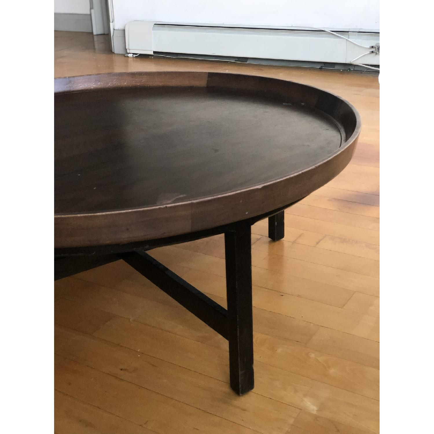 Antique Solid Wood Round Coffee Table - image-3