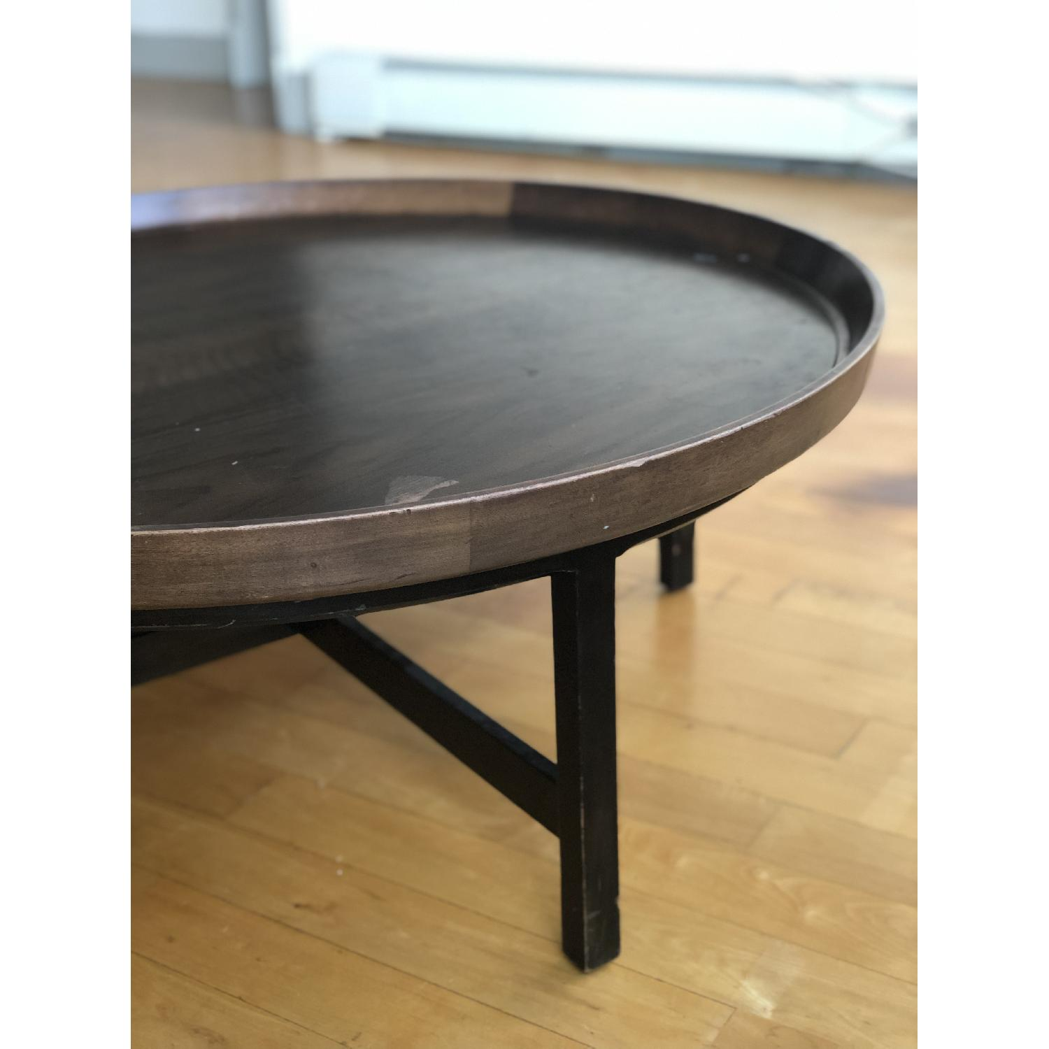 Antique Solid Wood Round Coffee Table - image-4