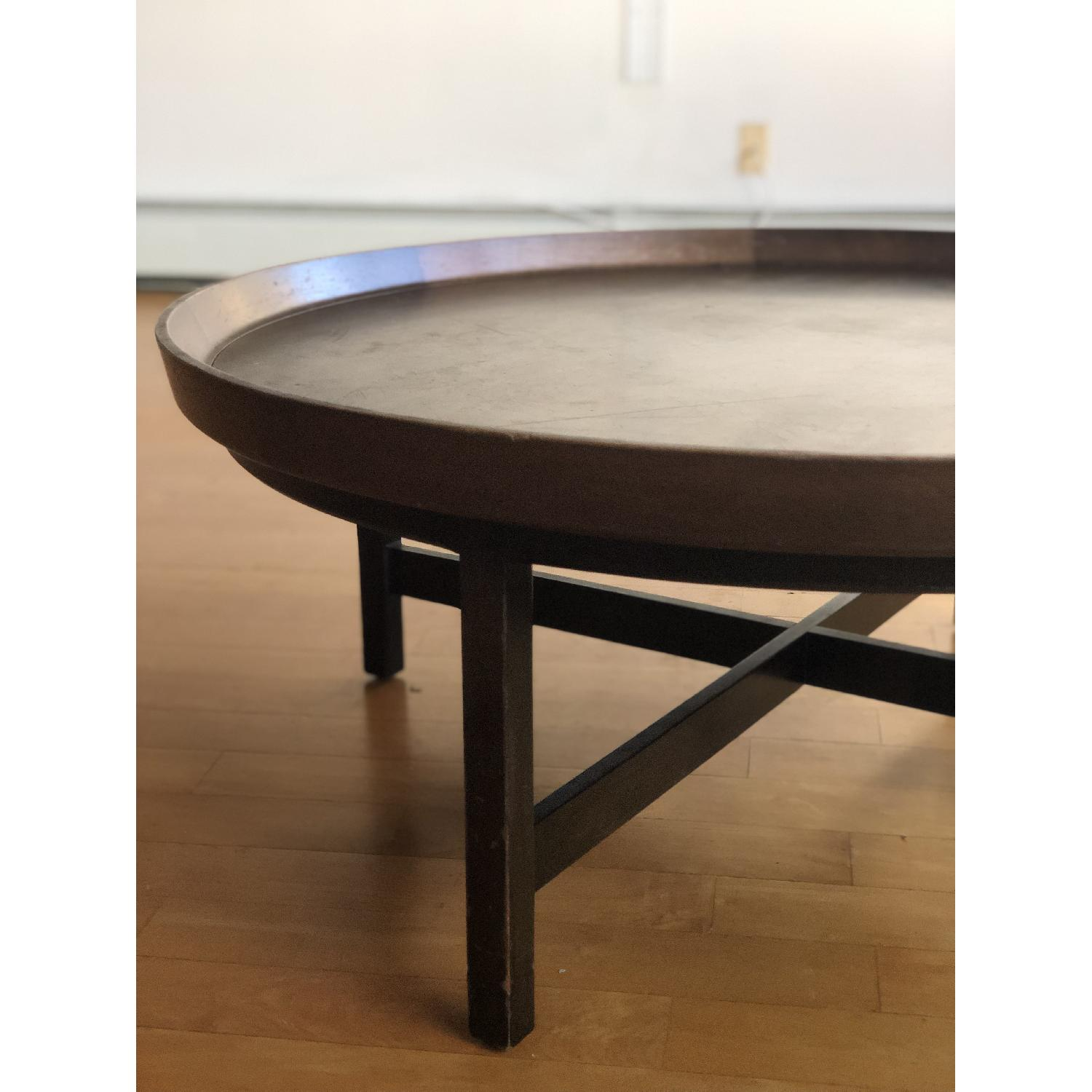 Antique Solid Wood Round Coffee Table - image-6