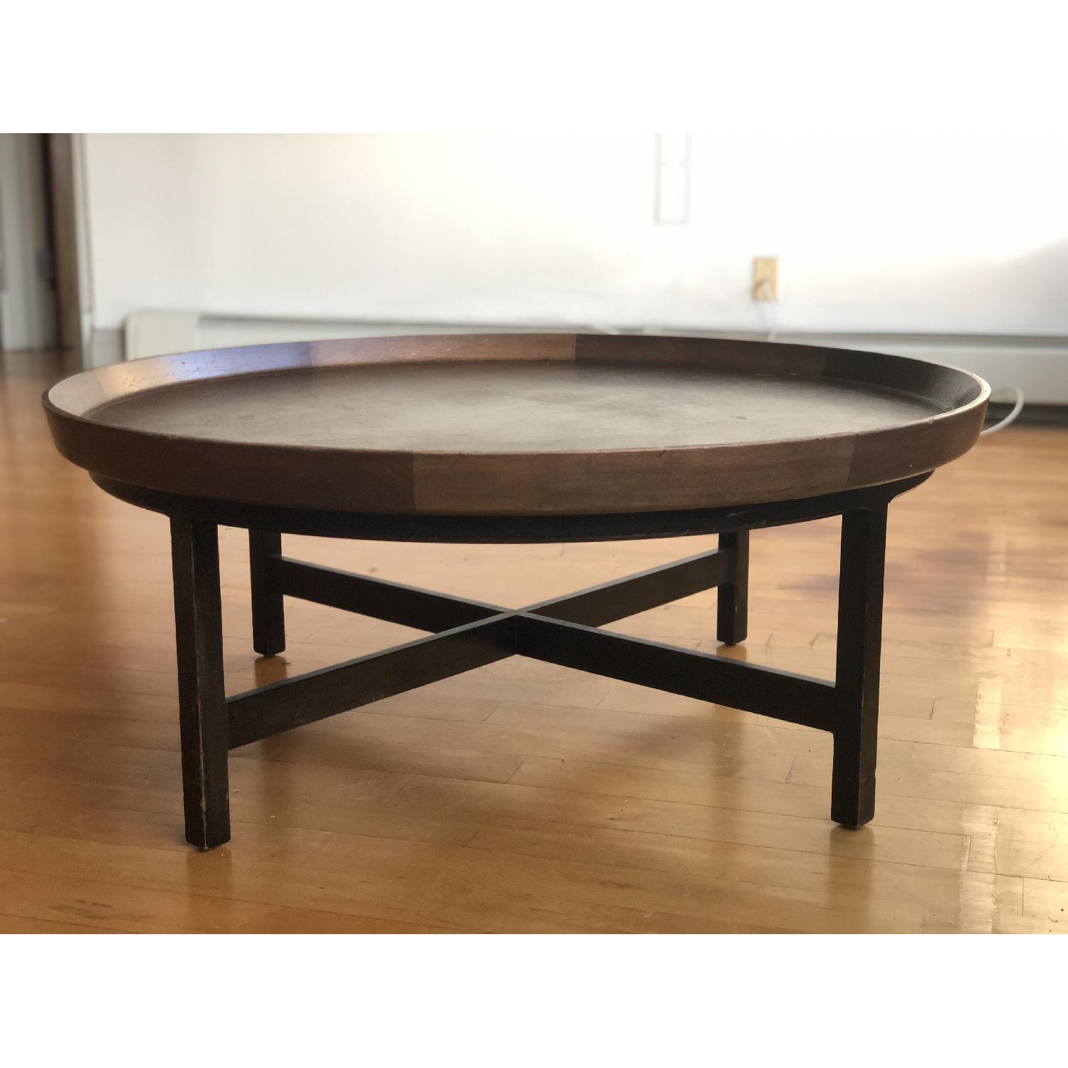 Antique Solid Wood Round Coffee Table - image-5