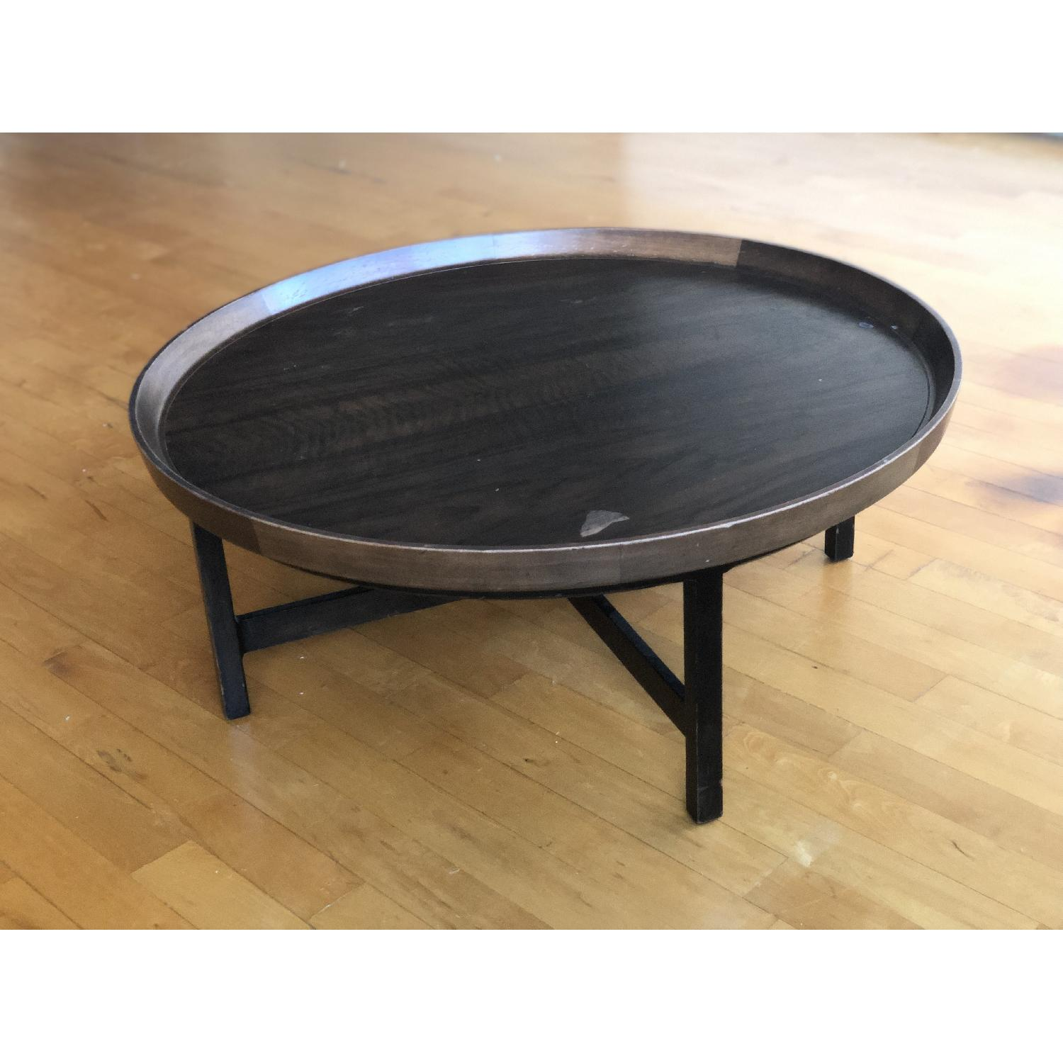 Antique Solid Wood Round Coffee Table - image-10