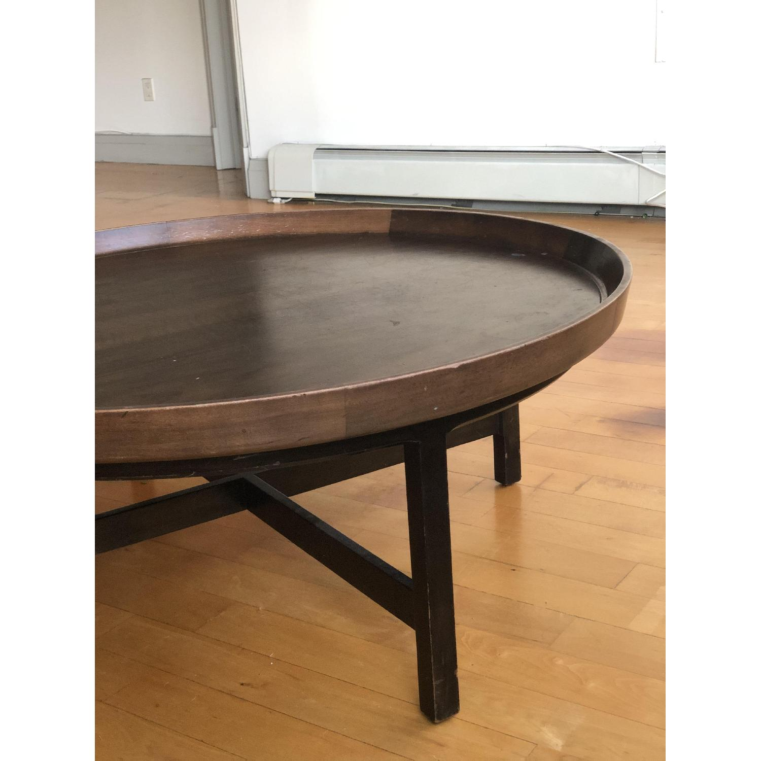 Antique Solid Wood Round Coffee Table - image-7