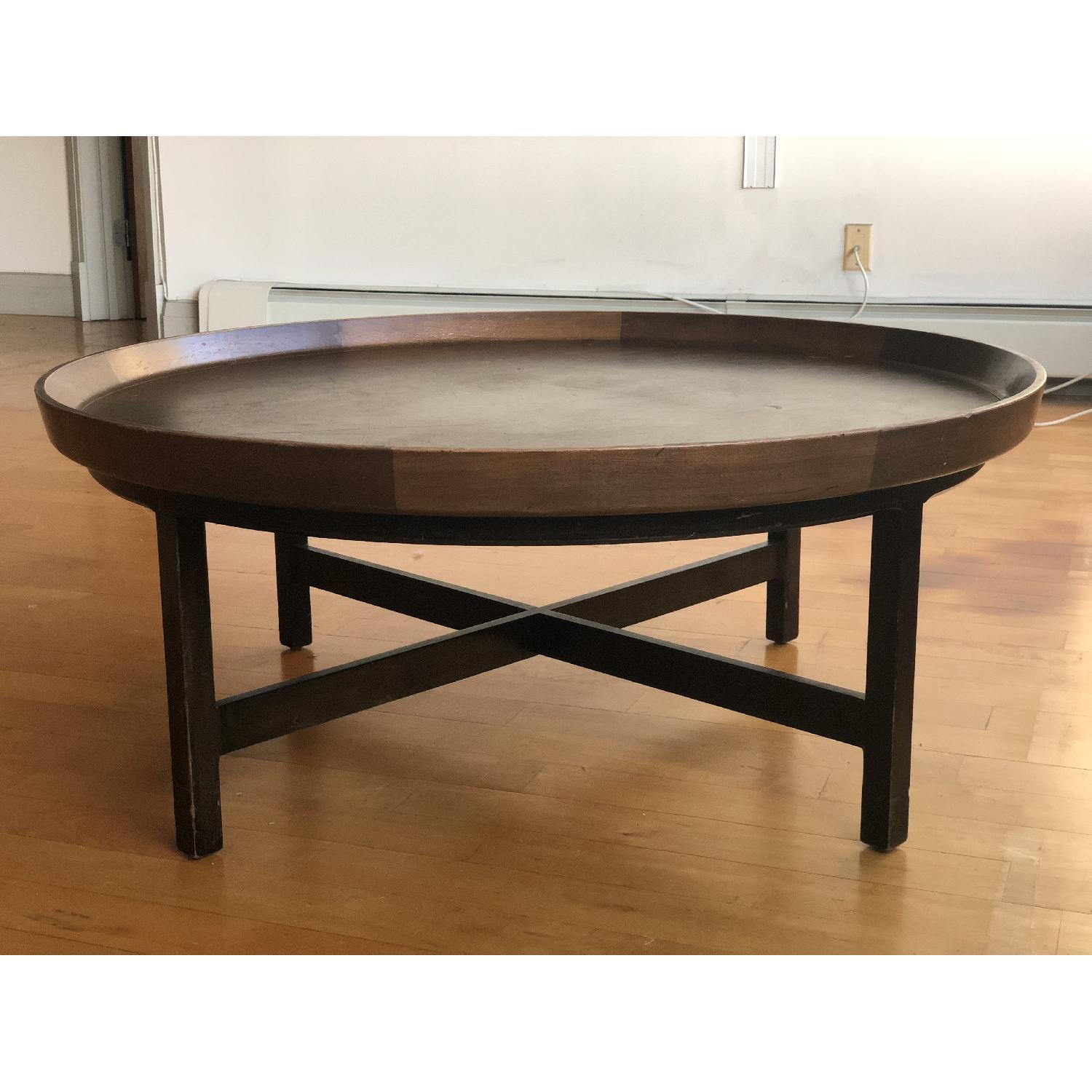 Antique Solid Wood Round Coffee Table - image-8
