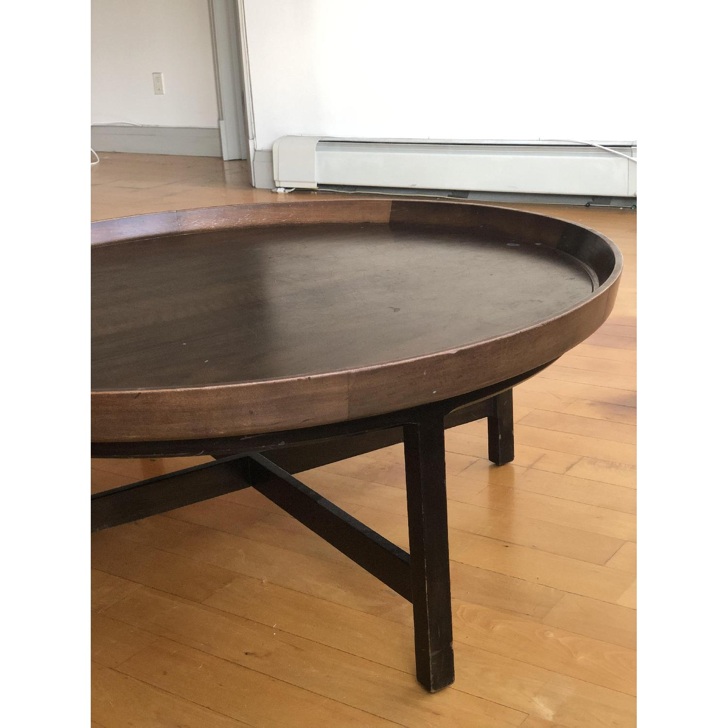 Antique Solid Wood Round Coffee Table - image-9