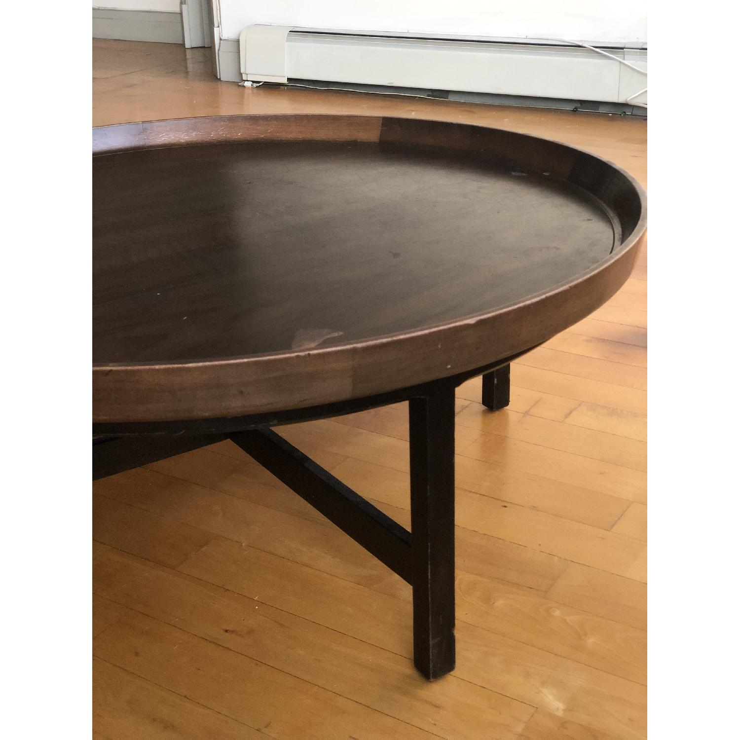 Antique Solid Wood Round Coffee Table - image-12