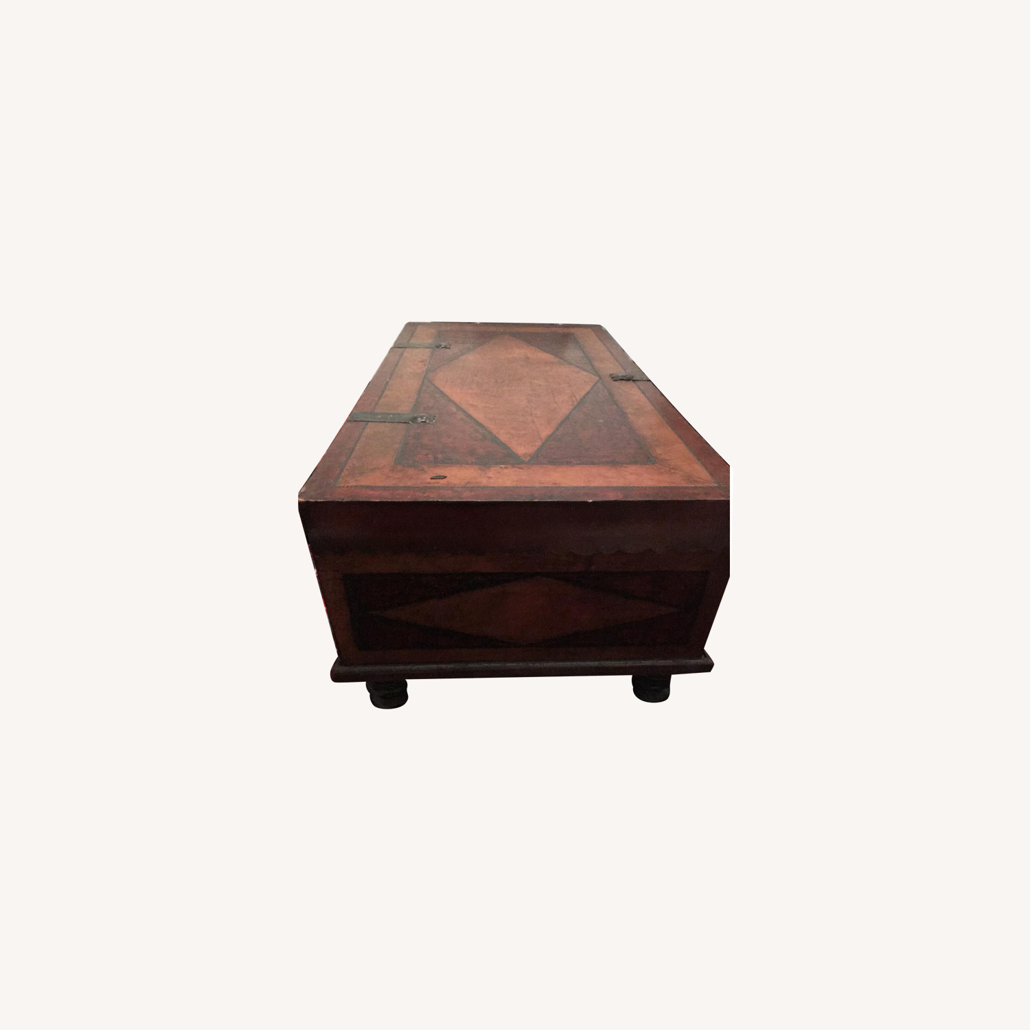 Leather Trunk-Style Coffee Table