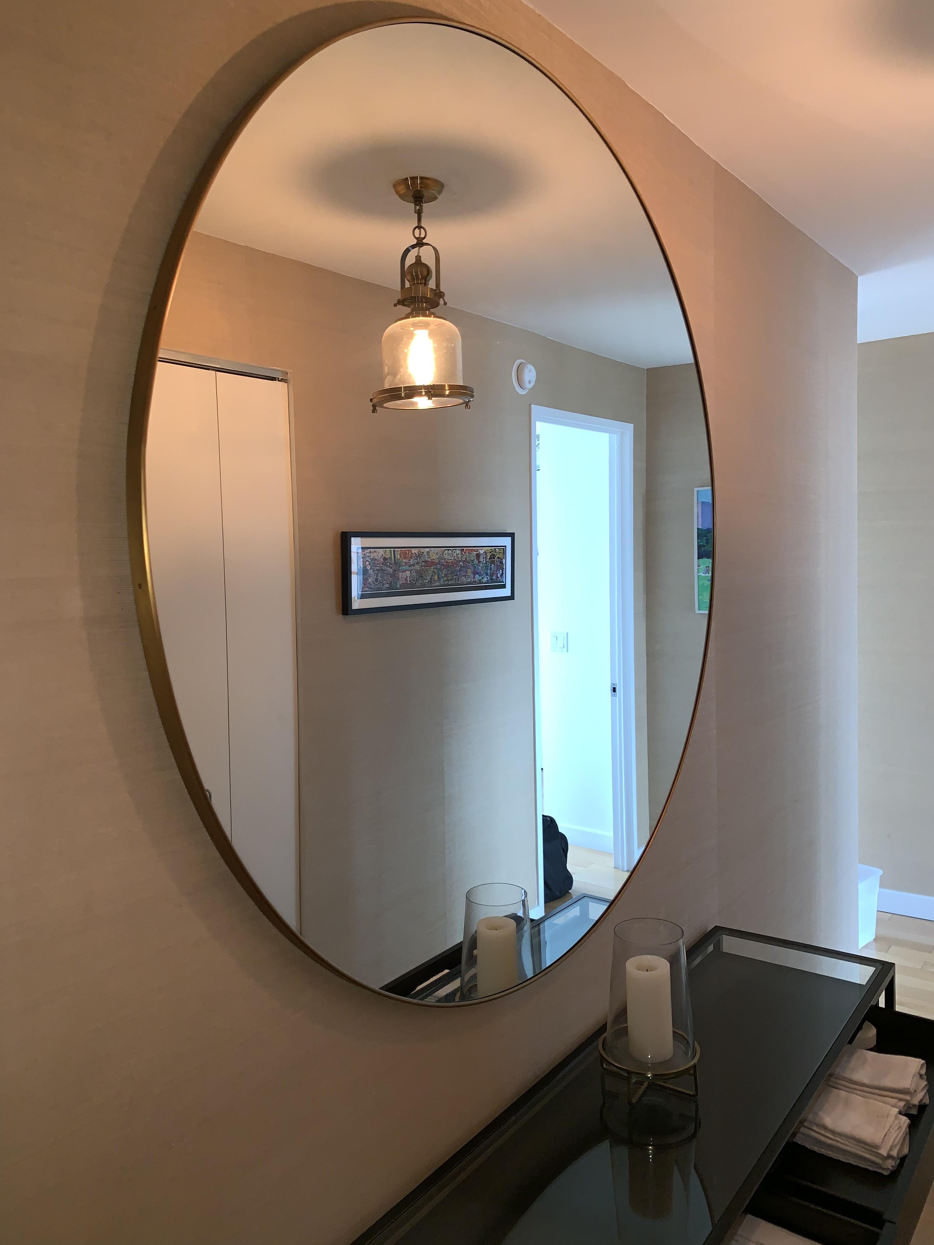 Mid Century Modern Brass Mirror