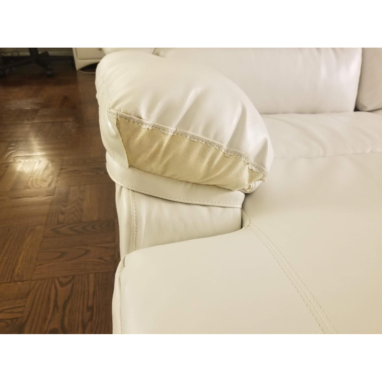 Poundex Bobkona White Leather Recliner Sectional Sofa - image-2