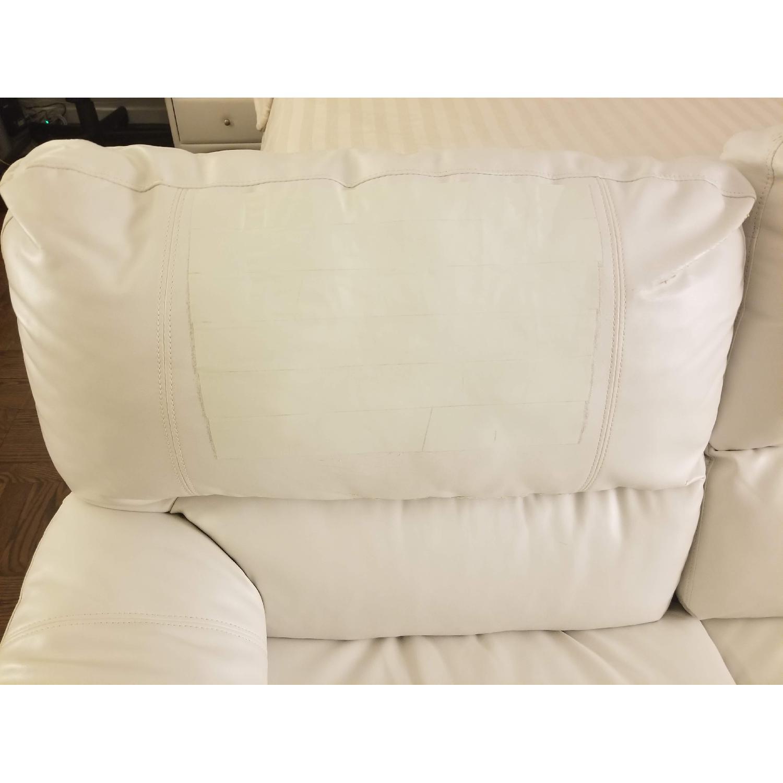 Poundex Bobkona White Leather Recliner Sectional Sofa - image-3