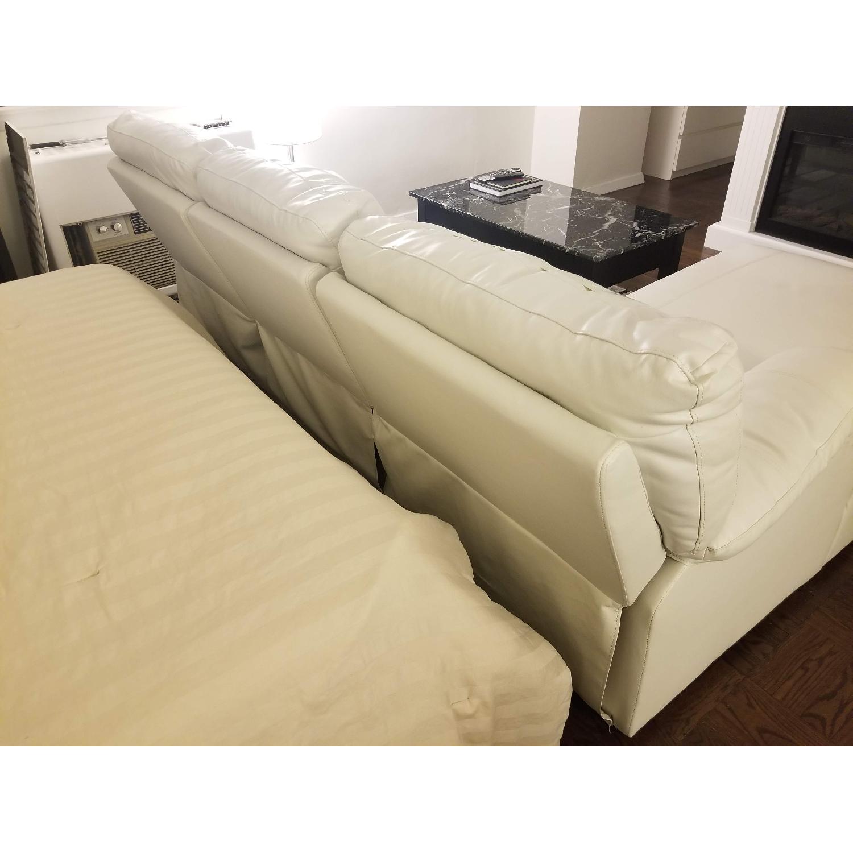 Poundex Bobkona White Leather Recliner Sectional Sofa - image-4