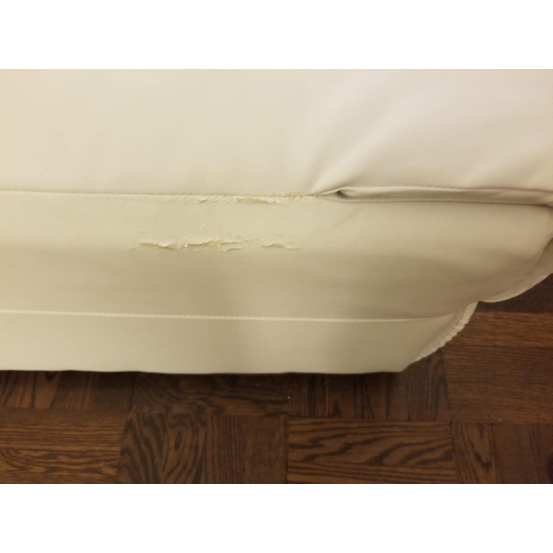 Poundex Bobkona White Leather Recliner Sectional Sofa - image-5