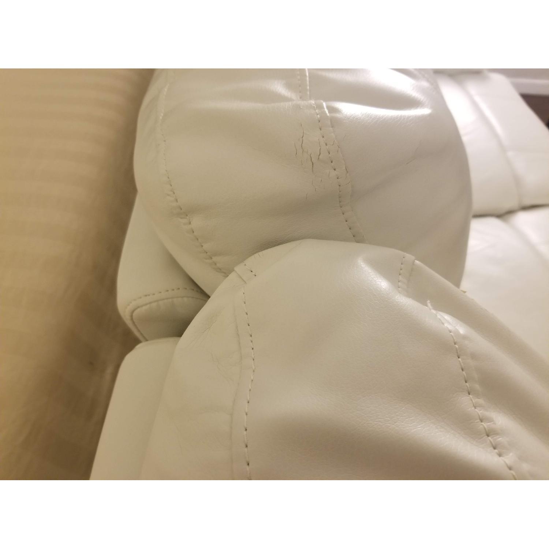 Poundex Bobkona White Leather Recliner Sectional Sofa - image-6