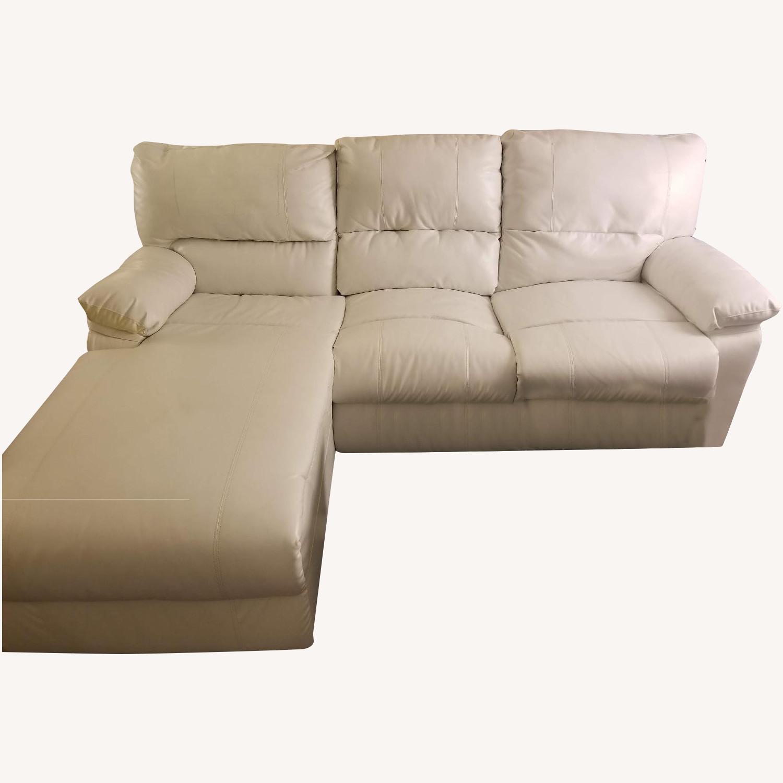 Poundex Bobkona White Leather Recliner Sectional Sofa - image-8