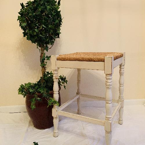 Bar Counter Stools with Rush Seat