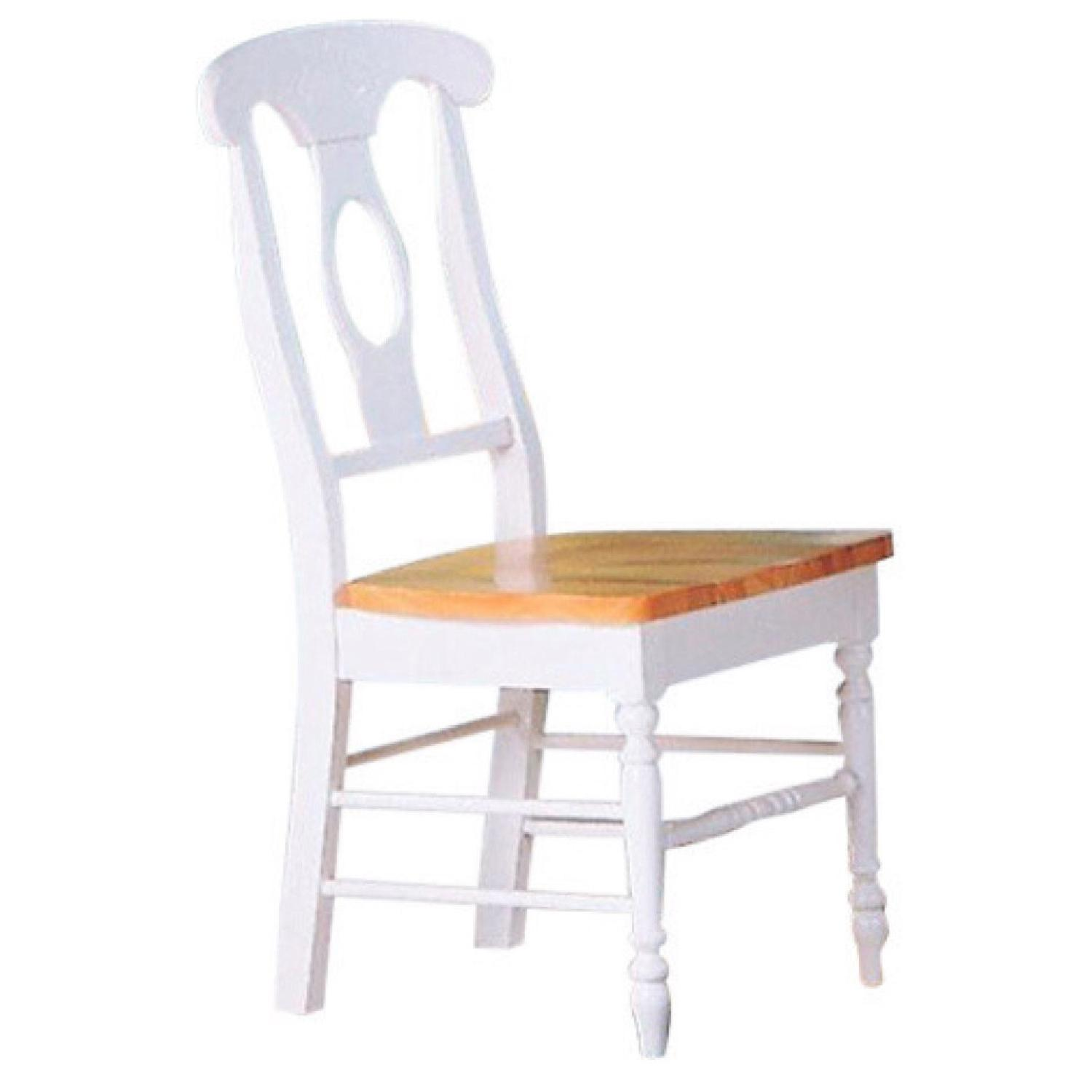 Coaster Natural & White Dining Chairs - image-0