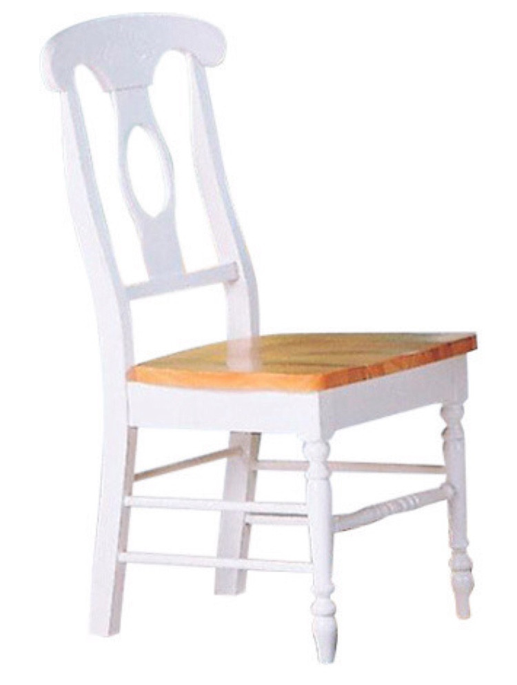 Coaster Natural & White Dining Chairs