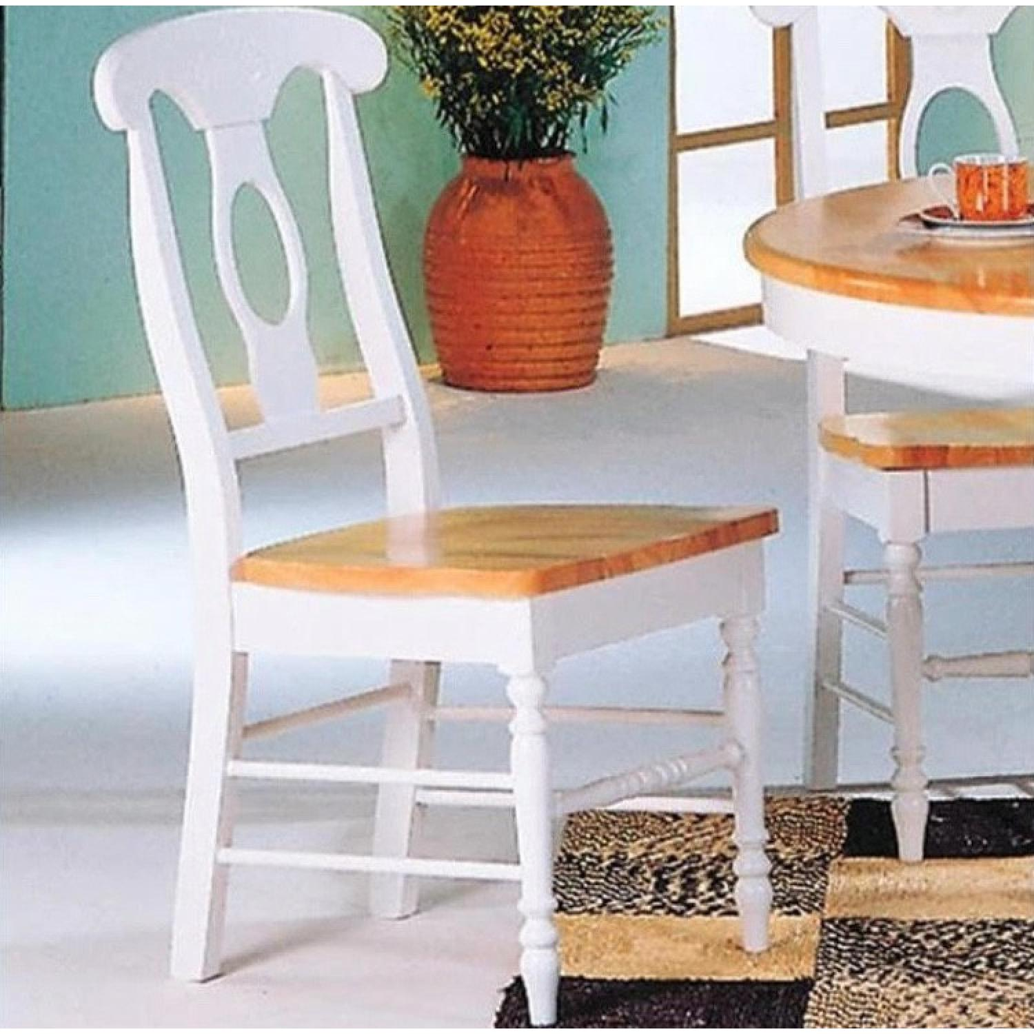 Coaster Natural & White Dining Chairs - image-1