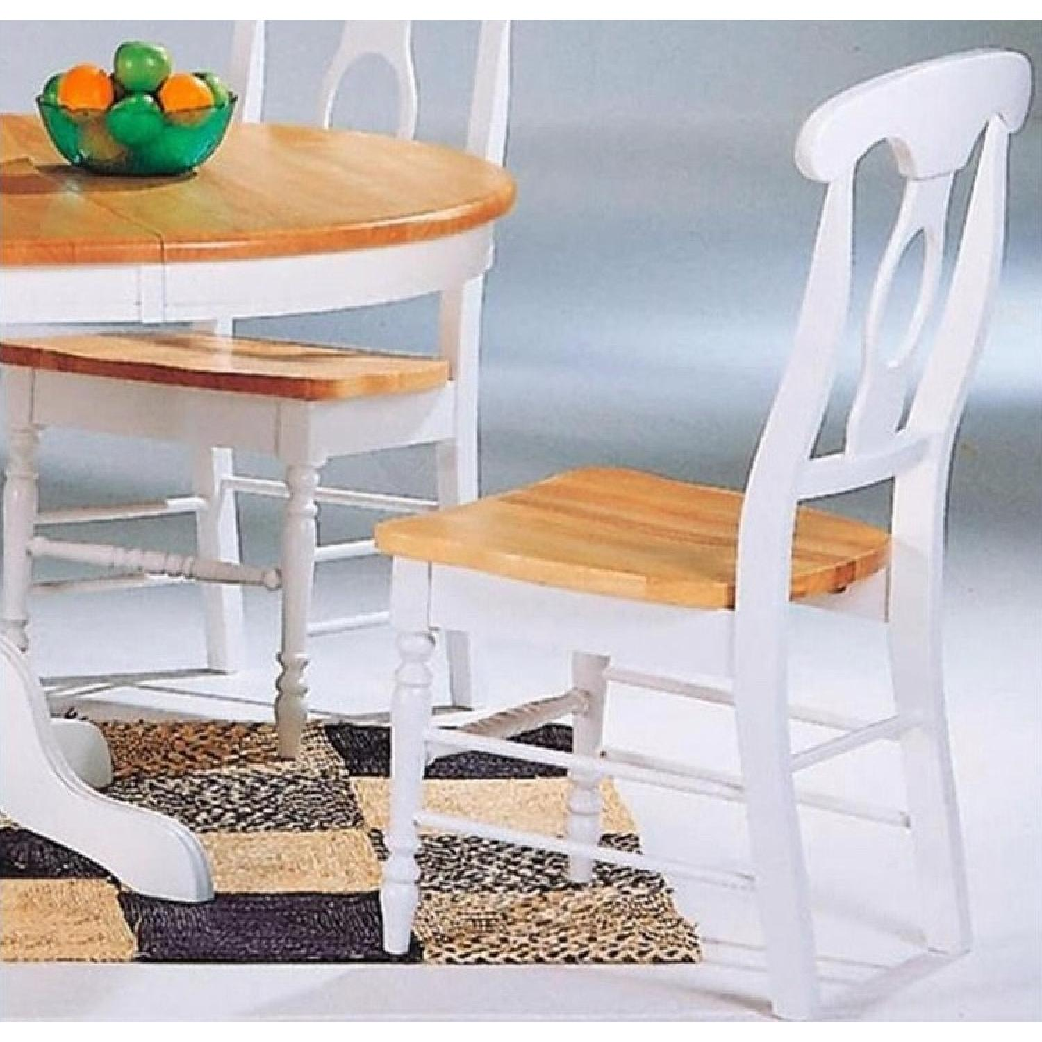 Coaster Natural & White Dining Chairs - image-2