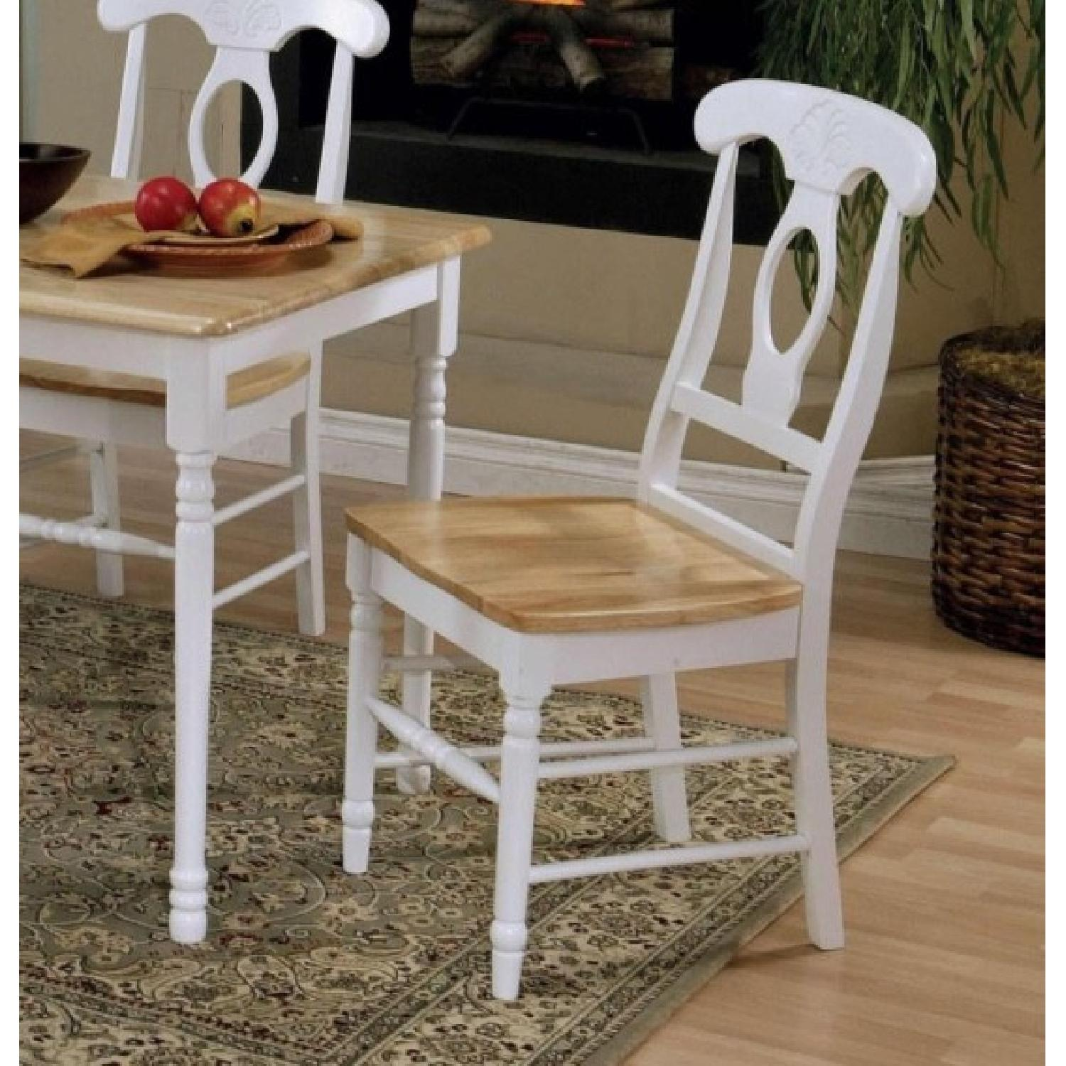 Coaster Natural & White Dining Chairs - image-3