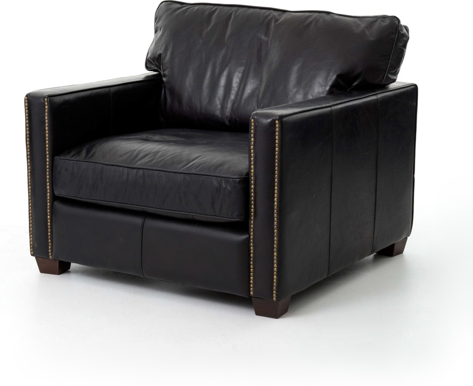 Carnegie Larkin Club Chair in Old Saddle Black