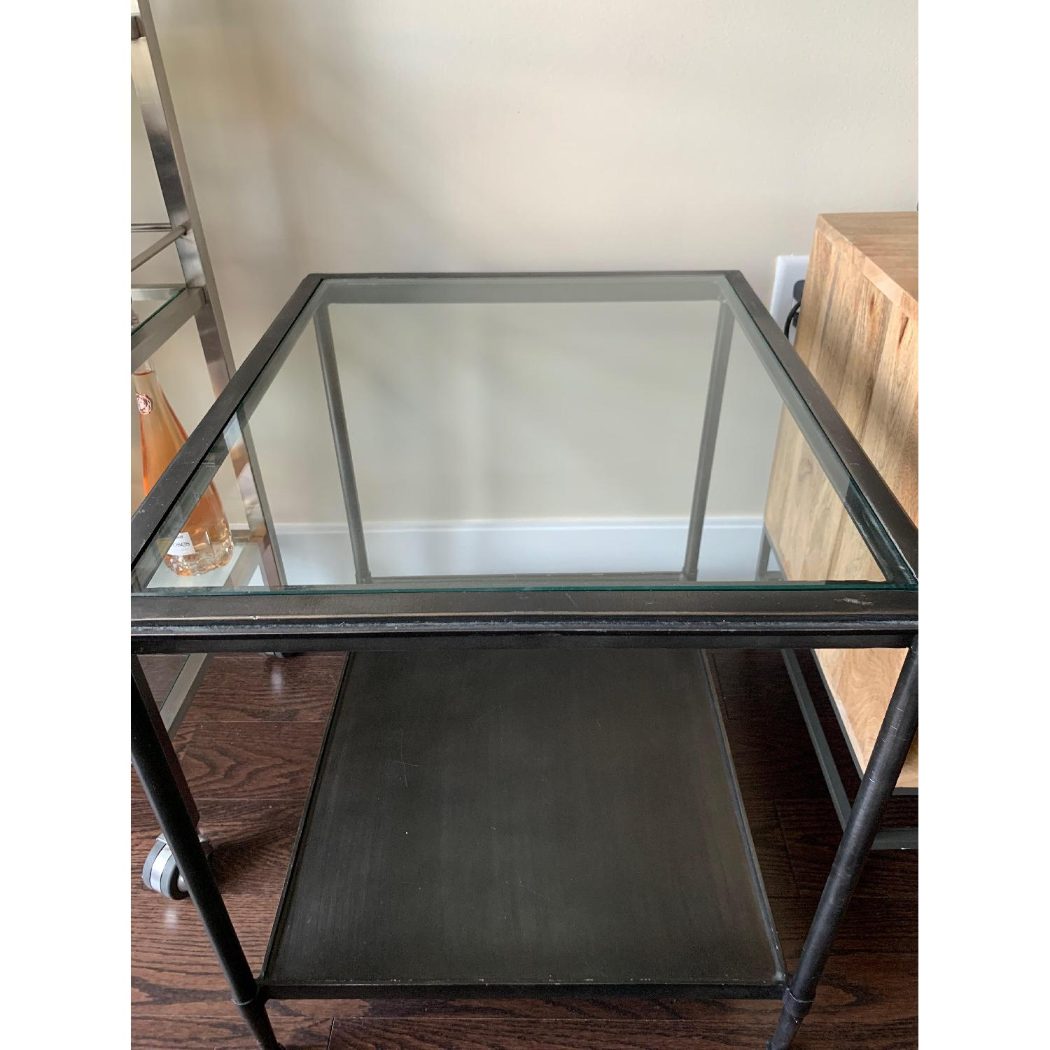 Crate & Barrel Kyra Steel & Glass End Table - image-3