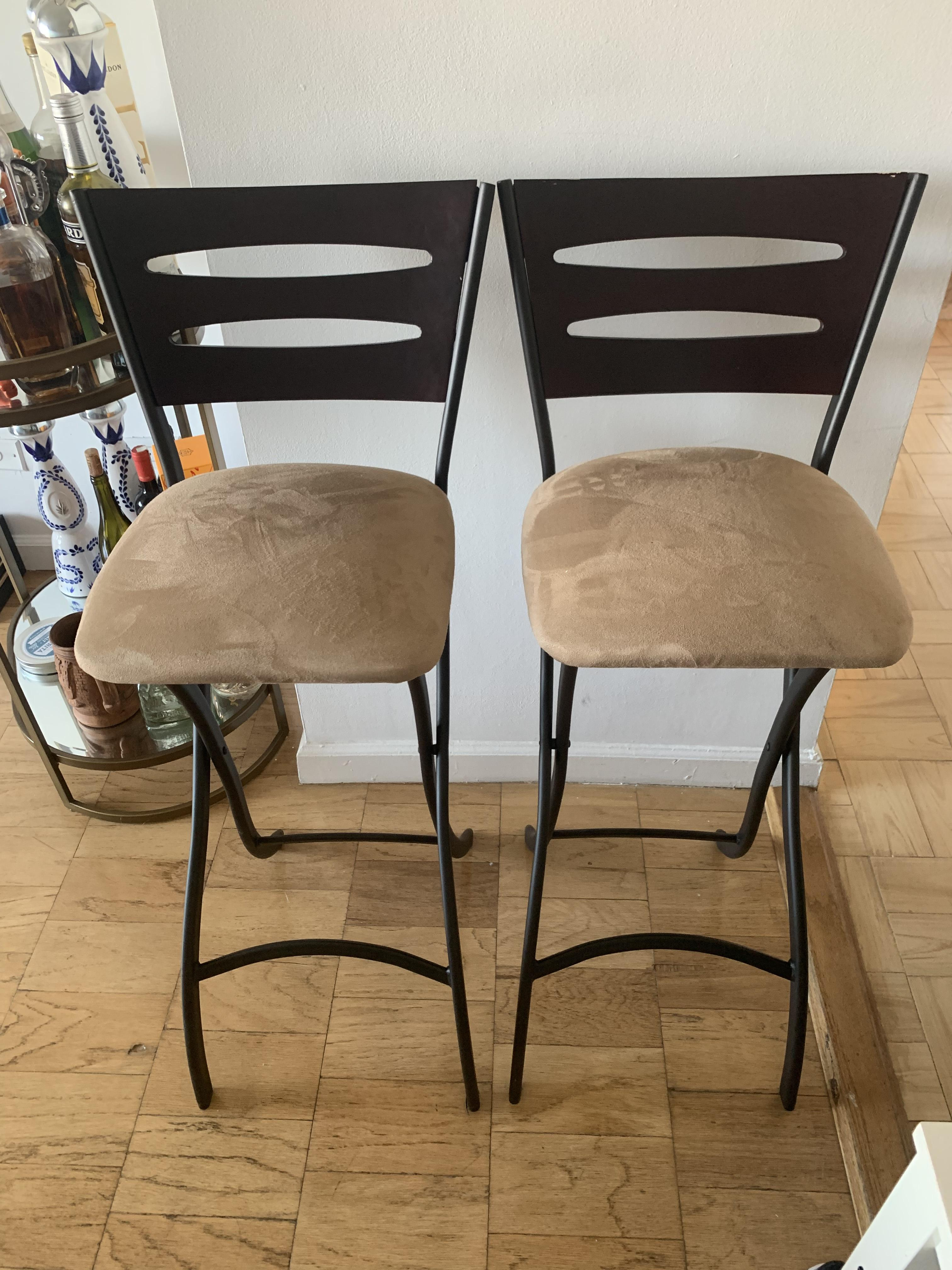 Metal Upholstered Barstools