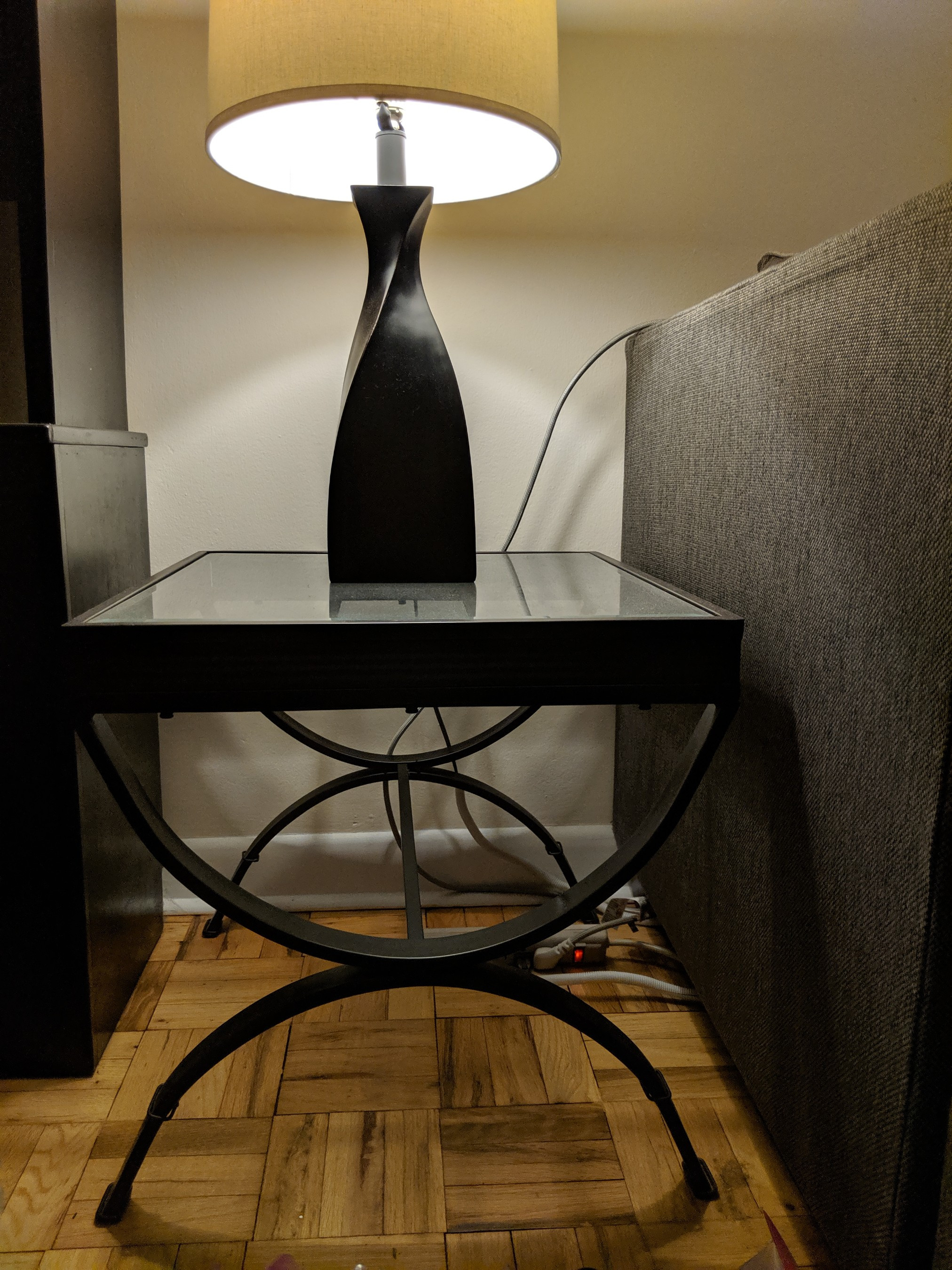 Bob's Glass Black End Tables