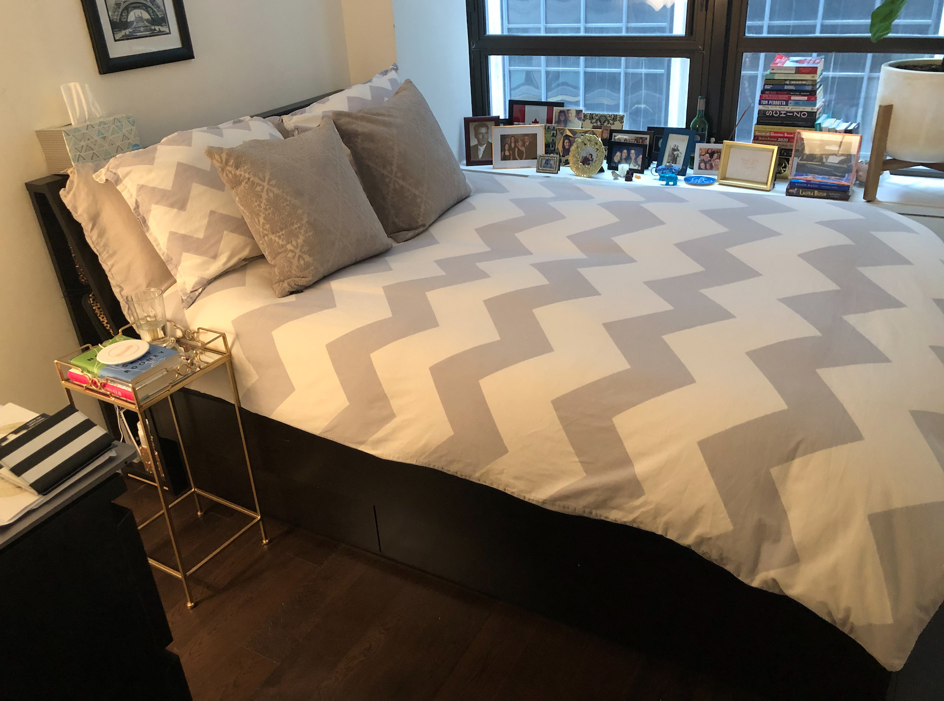 Ikea Bed Frame w/ Headboard & 4-Drawer Storage