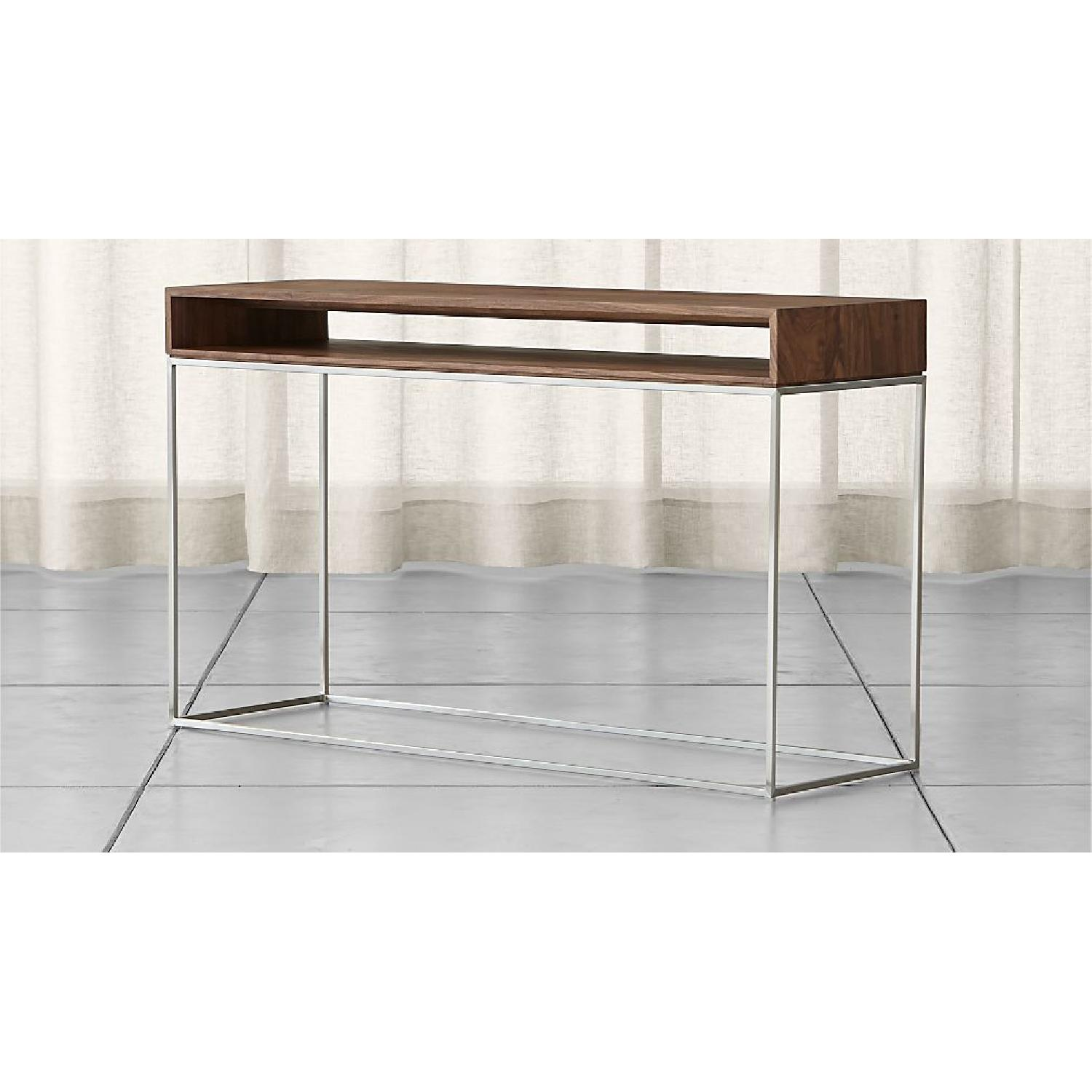 Crate & Barrel Frame Console Table - image-1